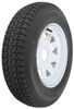 "Loadstar ST175/80D13 Bias Trailer Tire with 13"" White Wheel - 4 on 4 - Load Range C"