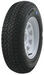 "Loadstar ST205/75D14 Bias Trailer Tire with 14"" White Wheel - 5 on 4-1/2 - Load Range C"