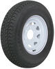 "Loadstar ST225/75D15 Bias Trailer Tire with 15"" White Wheel - 6 on 5-1/2 - Load Range D"