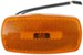 Rectangular Trailer Clearance, Side Marker Light with Reflector- Amber