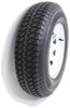 "Taskmaster ST225/75D15 Bias Trailer Tire with 15"" White Spoke Wheel - 5 on 4-1/2 - Load Range D"