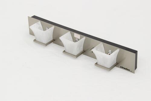 Gustafson RV Vanity Light - Satin Nickel - 3 Light - Frosted White Glass Gustafson Lighting RV ...