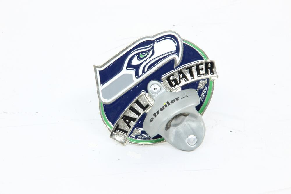 seattle seahawks nfl tailgater hitch cover with bottle opener 2 hitches alfred hitch cover. Black Bedroom Furniture Sets. Home Design Ideas