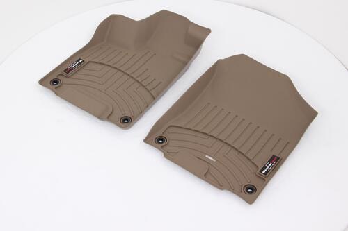 2016 honda pilot weathertech front auto floor mats tan. Black Bedroom Furniture Sets. Home Design Ideas