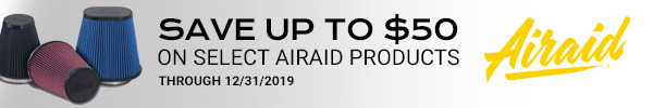 Save up to $50 on Select Airaid Products