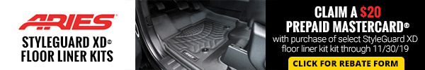 Claim a $20 Prepaid Mastercard with Purchase of Select StyleGuard XD floor liner kits