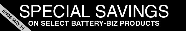 Special Savings on Select Battery-Biz Products
