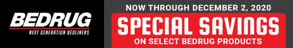 Now Through December 2, 2020 Special Savings on Select Bedrug Products