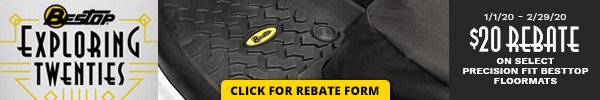 Receive a $20 Rebate on Select Bestop Floormats