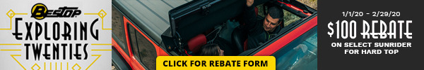 Receive a $100 Rebate on Select Sunrider for Hardtop