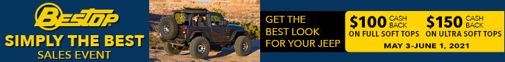 $100 Cash Back on Full Soft Tops $150 Cash Back on Ultra Soft Tops May 3 - June 1 2021