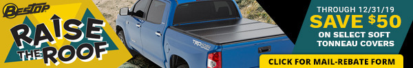 Save $50 on Select Bestop Soft Tonneau Covers
