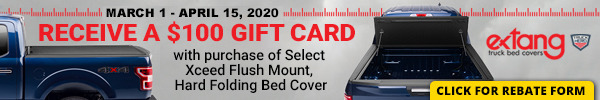 Receive a $100 Gift Card with Purchase of Select Xceed Flush Mount Hard Folding Bed Cover