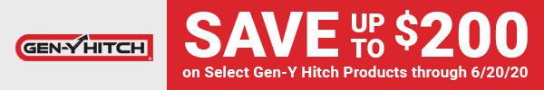 Save up to $200 on Select Gen-Y Hitch Products