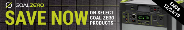 Instant Savings on Select Goal Zero Products