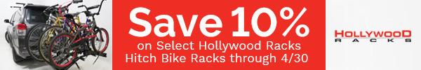 Save up to 10% on Select Hollywood Racks Hitch Bike Racks