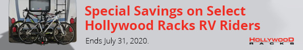 Special Savings on Select Hollywood Racks RV Riders