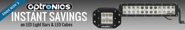 Instant Savings on Select Optronics LED Light Bars & Cubes