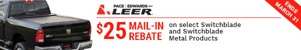 $25 Mail-in Rebate on select Switchblade and Switchblade Metal Products end March 31