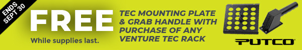 Free Tec Mounting Plate & Grab Handle With Purchase Of Any Venture Tec Rack