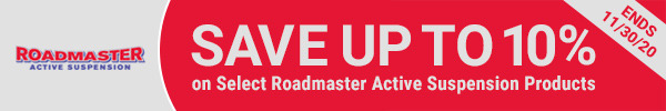 Save Up to 10% on Select Roadmaster Active Suspension Products