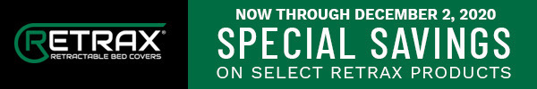 Now Through December 2, 2020 Special Savings on Select Retrax Products