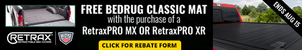 Free Bedrug Classic Mat with purchase of RetraxPRO MX or Retrax PRO XR