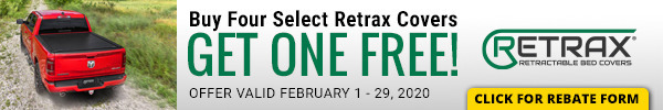 Buy Four Select Retrax Covers and Get One Free!