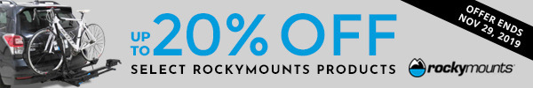 Save Up to 20 Percent on Select RockyMounts Products