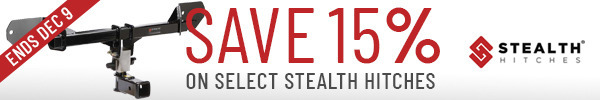 Save up to 15% on Select Stealth Hitches Packages