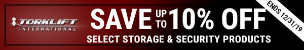 Save up to 10% off select Torklift storage and security banners