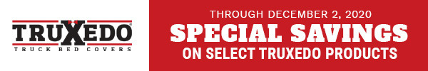 Now Through December 2, 2020 Special Savings on Select Truxedo Products