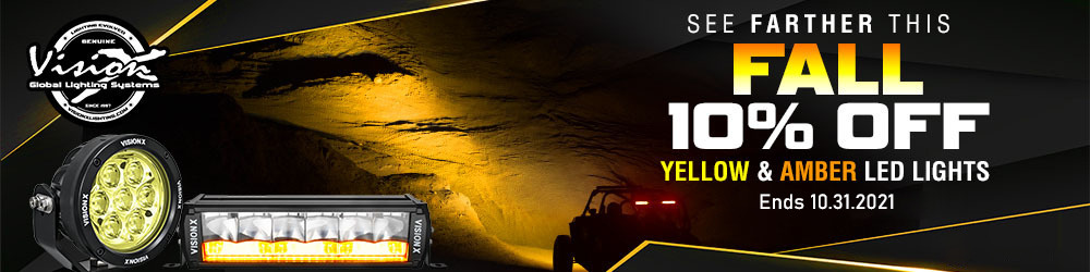 Vision X - 10% off select LED lights - October 1 through October 31
