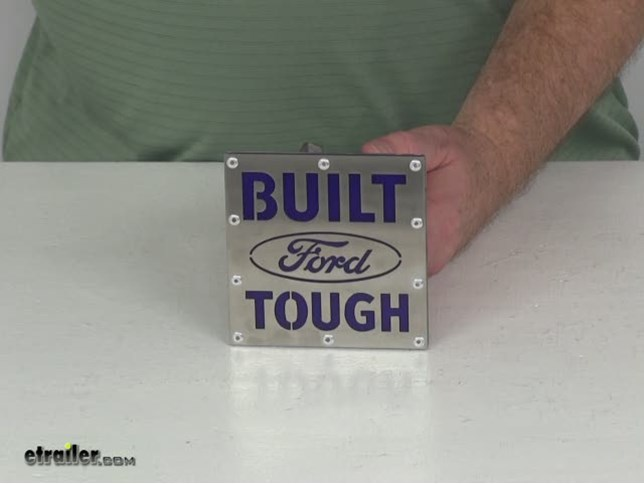 INC Built Ford Tough Brushed Steel Tow Hitch Cover Au-Tomotive Gold