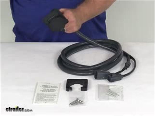 bargman 5th wheel  gooseneck 90 degree wiring harness for