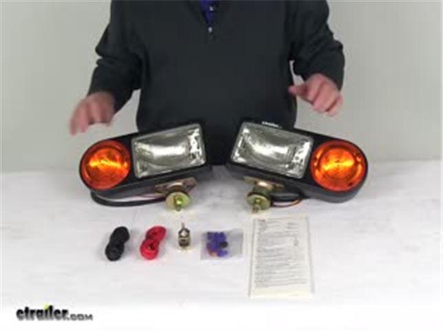Blazer snowplow headlights w turn signals low high beam clear amber 1 pair blazer