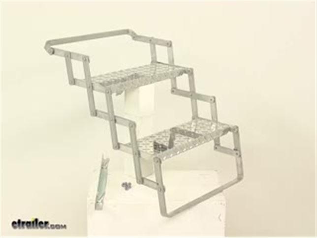 Brophy Camper Scissor Steps 2 Steps Aluminum Diamond