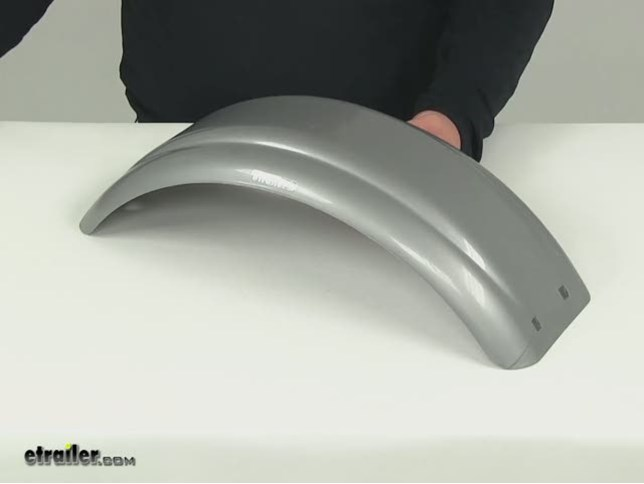 Plastic Fenders For Trailers : Ce smith single axle trailer fender w skirt gray