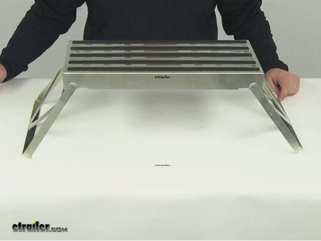 Compare Camco Folding Step Vs Camco Adjustable Etrailer Com