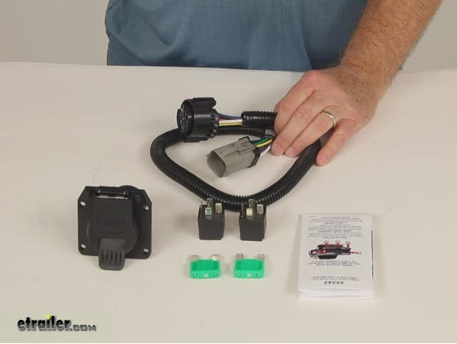 Demo Curt Custom Fit Vehicle Wiring C55243_644 compare curt t connector vs pollak replacement etrailer com ford replacement oem tow package wiring harness 7-way at readyjetset.co