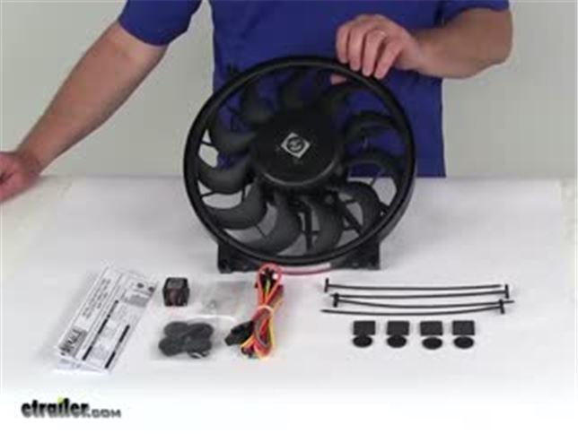 Derale 16925 Single Speed Electric Pusher Fan