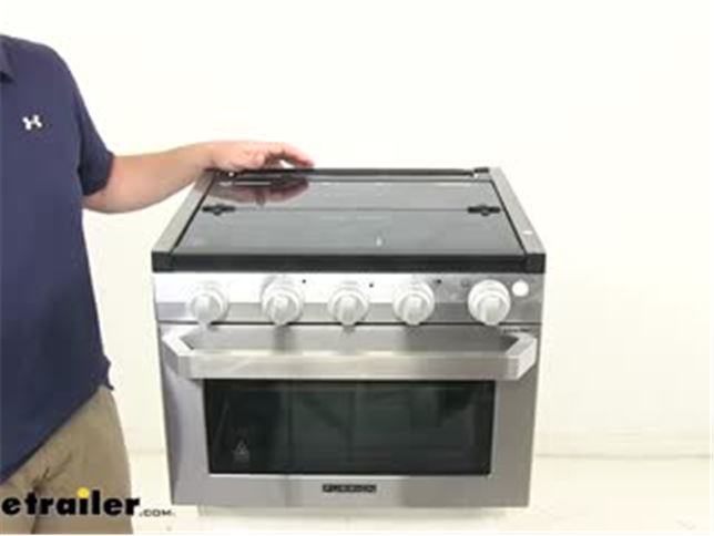 Rv Stove Oven >> Furrion 2 In 1 Range Oven W Wired Grate 17 Tall Stainless Steel