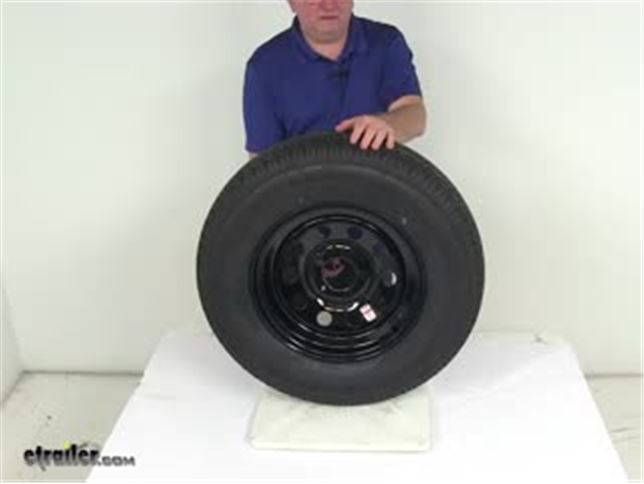 Video of Kenda Karrier ST205 75R15 Radial Trailer Tire with 15 Black Mod Wheel 5 on 41 2 LR D