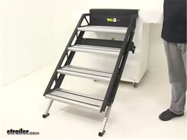 Steps For Rvs : Solidstep manual fold down steps for rvs quot wide