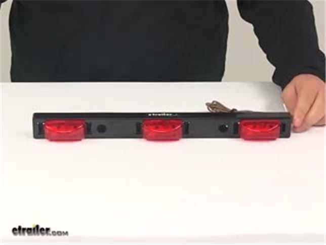 Optronics black base 3 light truck trailer identification led light bar review optronics black base 3 light truck trailer identification led light bar review video etrailer mozeypictures Choice Image