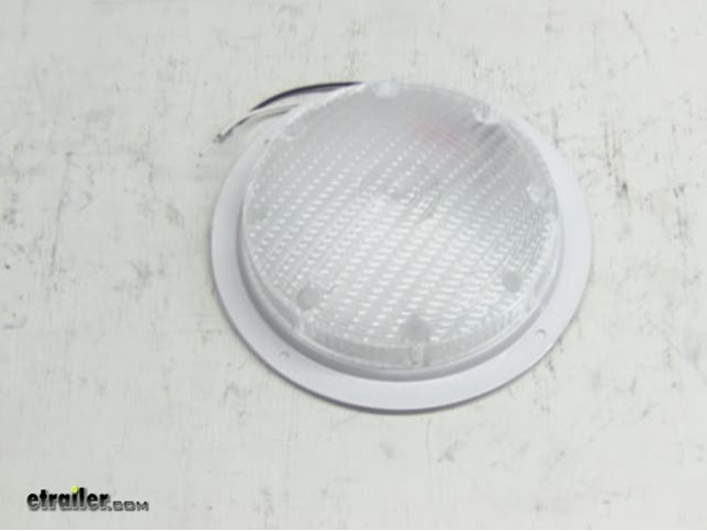 Rv Scare Light With 6 Quot Lead Surface Mount White Base