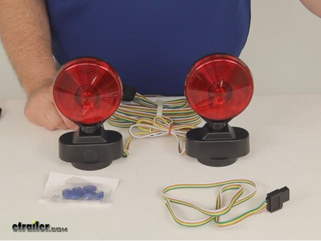 heavy duty magnetic tow lights 20 wiring harness 4 way optronics trailer lights tl21rk review