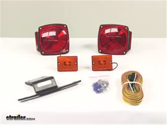 Submersible under quot trailer light kit with wiring