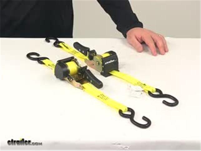 Progrip Retractable Ratchet Tie Down Straps W S Hooks 6 X 1