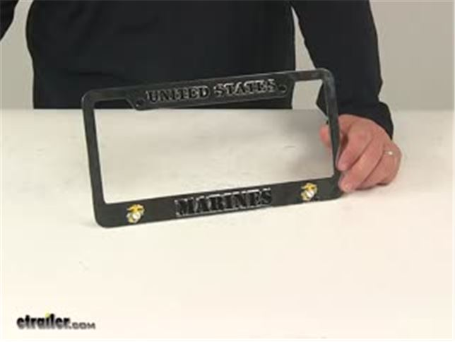 Auto License Plate Frame Utilities Man US Navy US License Plate Frame US Navy Anchor Custom Metal Frame License Plate Frame Tag Holder Free Screw Caps Included License Plate Covers & Frames